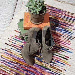 Me too Suede Oxford Tie up heels booties